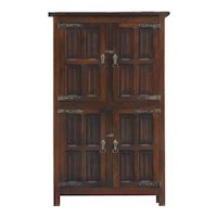 Antique English Art and Crafts Oak Cupboard c1900