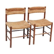 Pair of Chairs by Sentou c1960 France