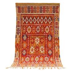 Vintage Berber Boujaad Moroccan Rug c1960