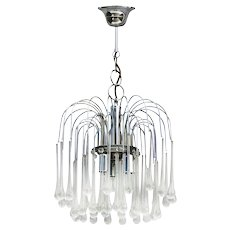 Murano Glass Chandelier by Paolo Venini C1960