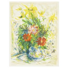 'Floral Still Life' by Ira Moskowitz (1912-2001)