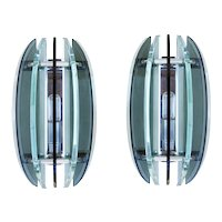 Pair of Wall Lights Sconces by VECA, circa 1970 Italy