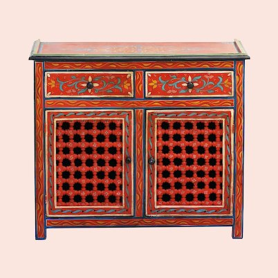 Vintage Moroccan Cabinet 20th Century Folk Art