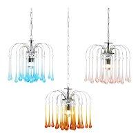 Murano Glass Cascade Chandelier Pendant Lights C1960