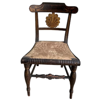 An American Classical Fancy Painted Side Chair, Philadelphia, Early 19th Century