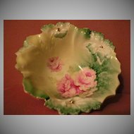 R.S.Prussia Footed Bowl, Floral, Carnation Mold 28