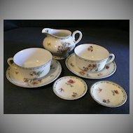 "8 Piece Group of Syracuse ""Rosyln"" Pattern Dinnerware"