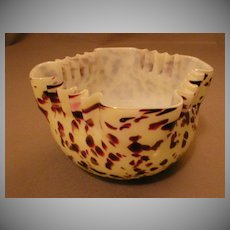 """Art Glass """"Spatter"""" or """"End-of-Day"""" Bowl"""
