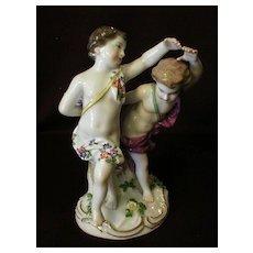 "Meissen Porcelain Figure ""Children Playing"""