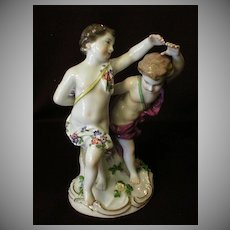 "Meissen Porcelain Figure ""Children Playing"""