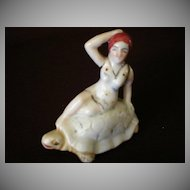 "Vintage 1920's ""Bathing Beauty Riding a Turtle"" Figurine"
