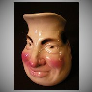 "Sarreguemines Majolica ""Jolly Fellow"" Face Jug"