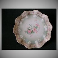 R.S. Prussia Plate w/Pastel Floral Decoration and Vellum Finish