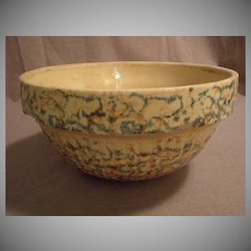 "#9 Red Wing Pottery ""Saffron Ware"" Spatter Mixing Bowl"