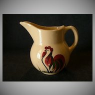 "Watt Pottery ""#15 Rooster"" Classic Pitcher"