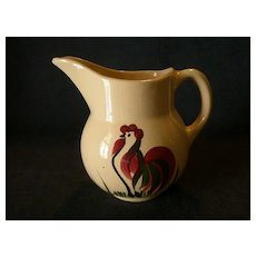 """Watt Pottery """"#15 Rooster"""" Classic Pitcher"""