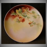 D'Arcy  Studio Hand-Painted Cabinet Plate w/Currant Decoration