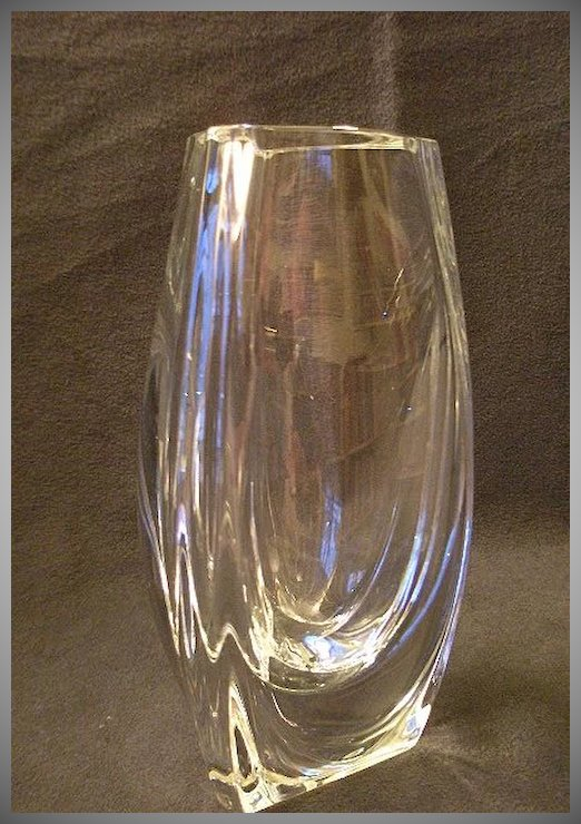 Baccarat Crystal Bouton Dor Or Buttercup Vase Brys Antiques