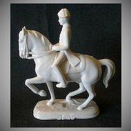 """Wien Keramos Art Nouveau """"Lipizzaner Stallion & Rider"""" Figurine"""