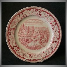 "Set of 4 Homer Laughlin ""Americana Series - Western Farmer's Home"" Luncheon Plates"