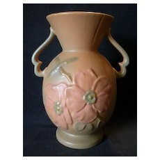 "Weller Pottery ""Wild Rose"" Pattern Vase"