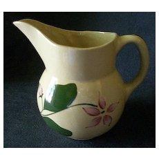 "Watt Pottery ""#15 - 5 Petal Star Flower"" Pattern Pitcher"