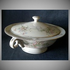 """Theodore Haviland, New York, """"Apple Blossom"""" Pattern Round Covered Vegetable Bowl"""
