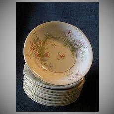 "Set of 6 Theodore Haviland, New York, ""Apple Blossom"" Pattern 5"" Sauce Dishes"
