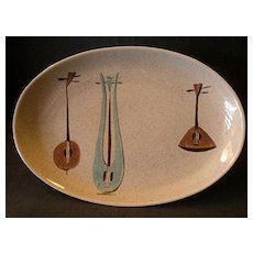 """Red Wing Pottery """"Lute Song"""" Pattern 12"""" Oval Platter"""