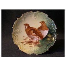 Lazeyras, Rosenfeld & Lehman (L R L) Limoges Game Plate w/Two Birds