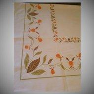 "Startex Starmont Company ""Autumn Leaf"" Pattern Sailcloth Tablecloth"