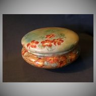 Elite Limoges Large Hand-Painted Jewelry/Dresser Box w/Nasturtium Floral Design