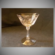 "Set of 5 - Fostoria ""Lido"" Pattern Champagne/Tall Sherbets"