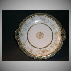 "Haviland & Co. Limoges ""Delicate Pink Floral"" Decorated Shallow Serving Bowl"