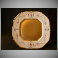"Pickard China Hand Painted ""Rose Basket - Trailing Vine AOG"" Plate"