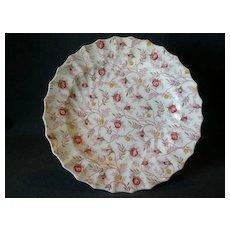 """Set of 4 Copeland Spode """"Rosebud Chintz"""" Pattern Dinner Plates"""