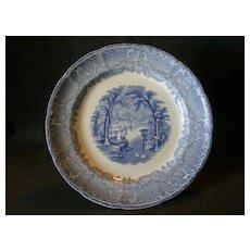 """Podmore, Walker & Co.  Blue Transfer """"Venus"""" Pattern Plate"""