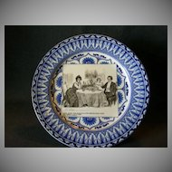 "Royal Doulton Gibson Girls Plate ""A Quiet Dinner With Dr. Bottles"""