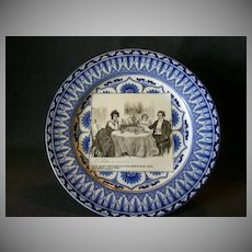 """Royal Doulton Gibson Girls Plate """"A Quiet Dinner With Dr. Bottles"""""""