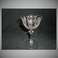 "Set of 6 - Tiffin ""June Night"" Pattern Liquor Cocktail Glasses"