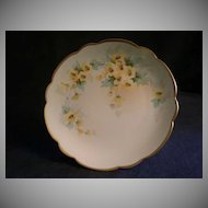Pickard Studio Hand Painted Cabinet Plate w/Buttercup Floral Motif