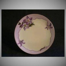 Caine's Studio Hand-Painted Cabinet Plate w/Mountain Columbine Motif