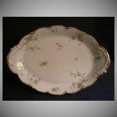 Theodore Haviland Floral Motif Large Oval Serving Platter, Schleiger #150-24, Blank 130
