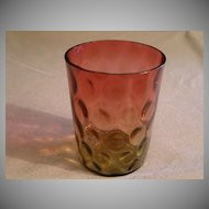 Amberina Tumbler in Inverted Thumbprint Pattern