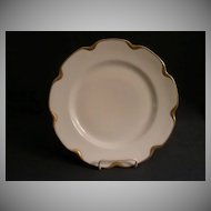 """Set of 4 - Charles Haviland & Co. Limoges """"Silver Anniversary"""" Luncheon Plates - Schleiger #19"""