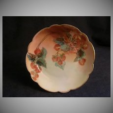 Rosenthal Porcelain Hand-Painted Cabinet Plate w/Ripe Strawberries Motif