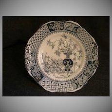 """Copeland  Earthenware """"Kew"""" Pattern Plate in Blue & White"""