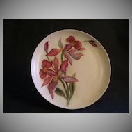 GDA Limoges Hand Painted  Cabinet Plate w/Orchid Floral Motif