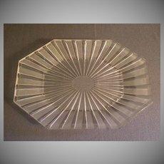 """EAPG - """"Frosted Ribbon"""" Pattern Oblong Platter w/Cut Corners"""