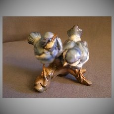 "Tay Porcelain ""Fledgling Blue Birds"" Figurine"